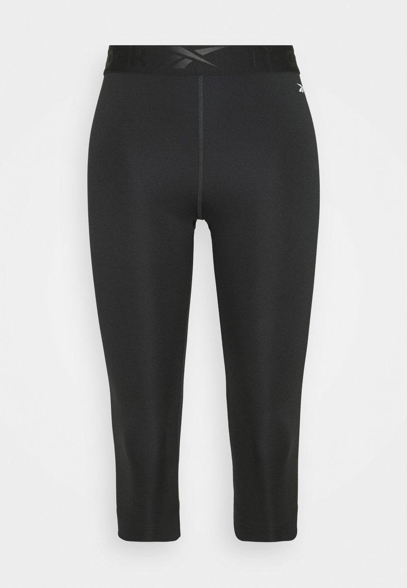 Reebok - CAPRI - 3/4 sports trousers - night black