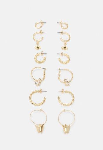 EARRINGS 6 PACK - Earrings - gold-coloured
