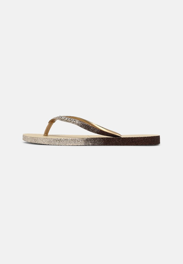 SLIM SPARKLE FADE - Teenslippers - sand grey