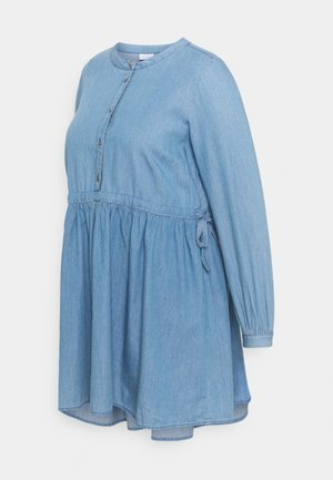MLSTINA LIA WOVEN TUNIC - Blouse - light blue/chambray