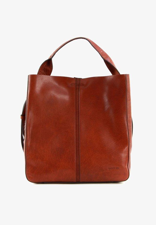 ELSA - Tote bag - midbrown