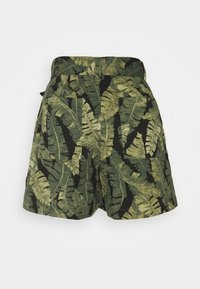 Object Petite - OBJFANA - Shorts - black/leaves - 1