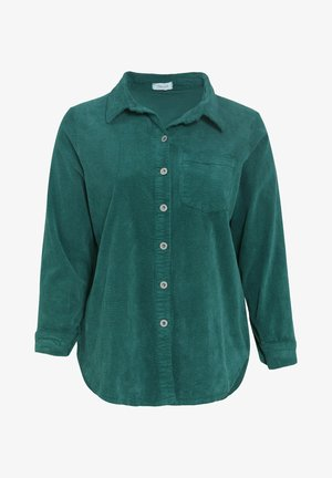 Button-down blouse - emerald green