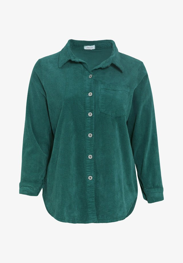 Overhemdblouse - emerald green