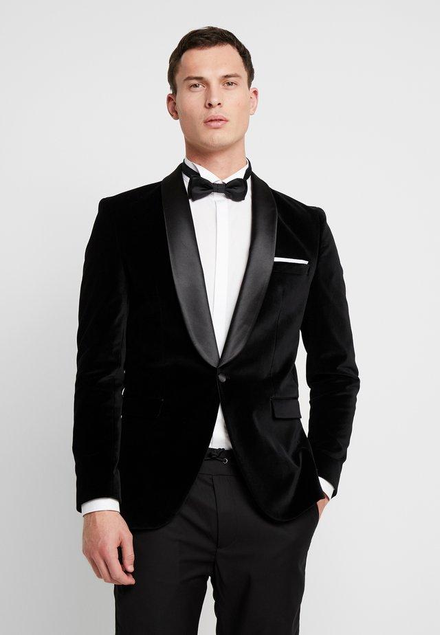 SLHSLIM-HICKVELVET  - Blazer jacket - black