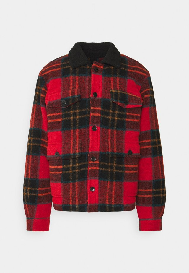 TARTAN CHECK JACKET WITH TEDDY COLLAR - Chaqueta de entretiempo - combo a