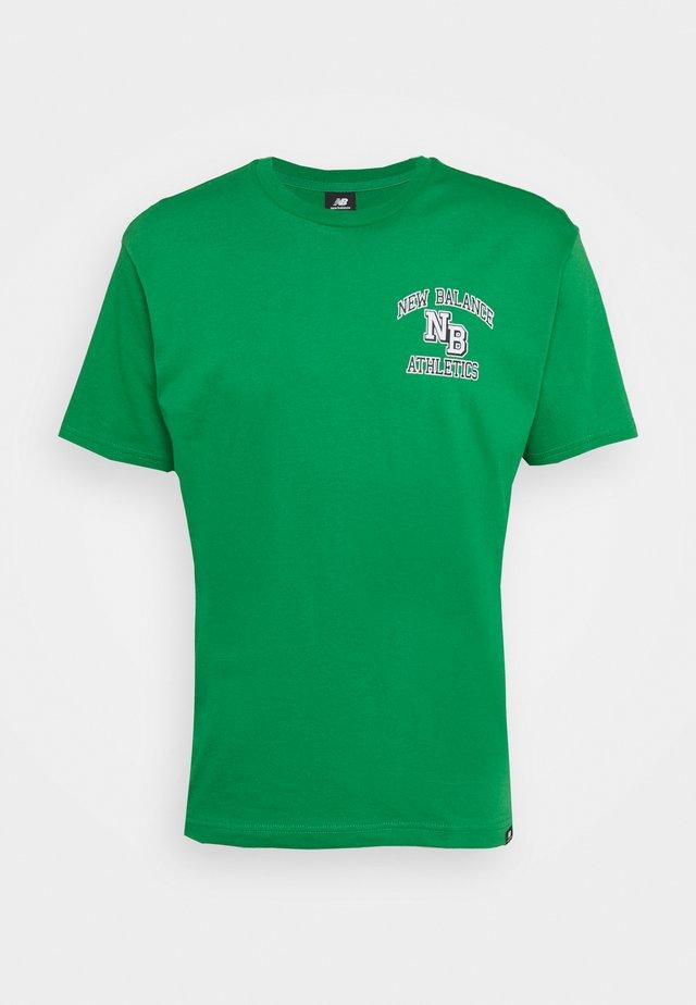 ATHLETICS VARSITY TEE - T-shirt med print - green