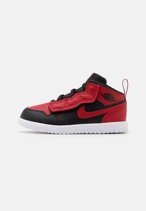 1 MID UNISEX - Basketball shoes - black/gym red/white