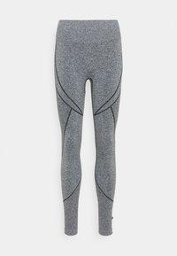 NU-IN - SEAMLESS TWO TONE HIGH WAIST LEGGINGS - Leggings - grey - 5