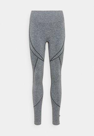 SEAMLESS TWO TONE HIGH WAIST LEGGINGS - Tights - grey