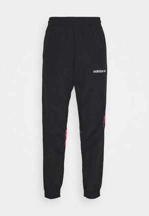 TRACKPANT - Tracksuit bottoms - black/white/solred