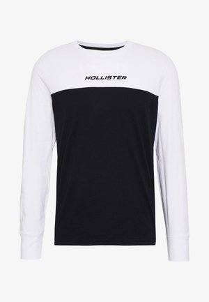 COLORBLOCK SPORT LOGO - Long sleeved top - white/black