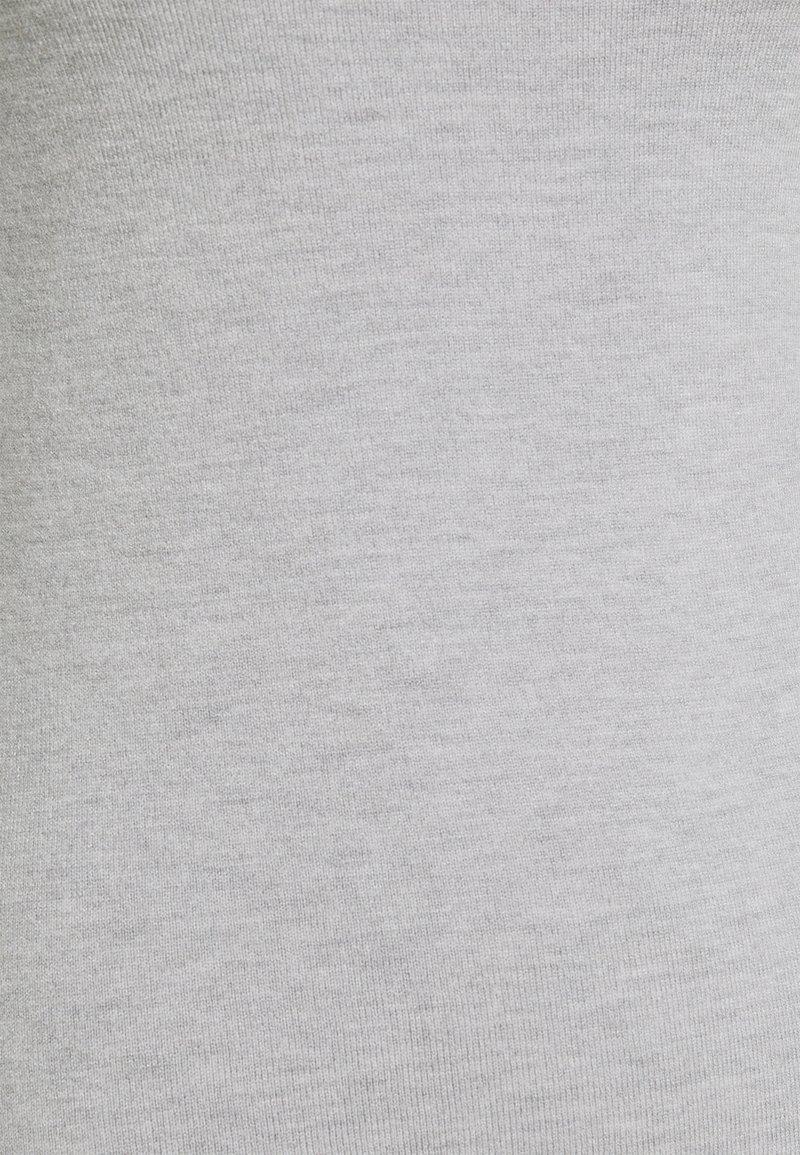 Anna Field BASIC OPEN NECK JUMPER - Strickpullover - mottled light grey/hellgrau-meliert NZdaFs