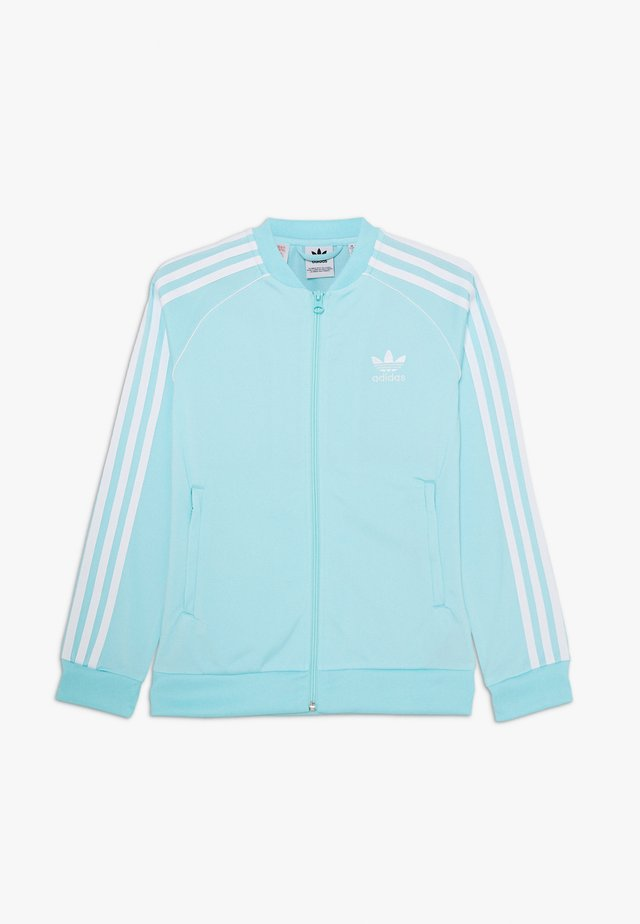 SUPERSTAR - Veste de survêtement - aqua/white