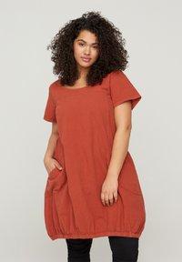 Zizzi - Day dress - orange - 0