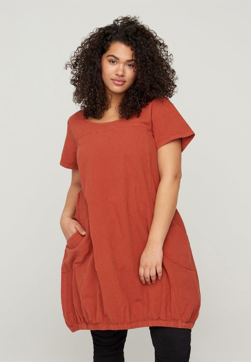 Zizzi - Day dress - orange