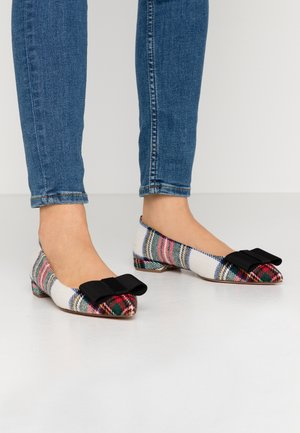 PLAID WITH BOW HARLECH - Ballerines - cream/multicolor