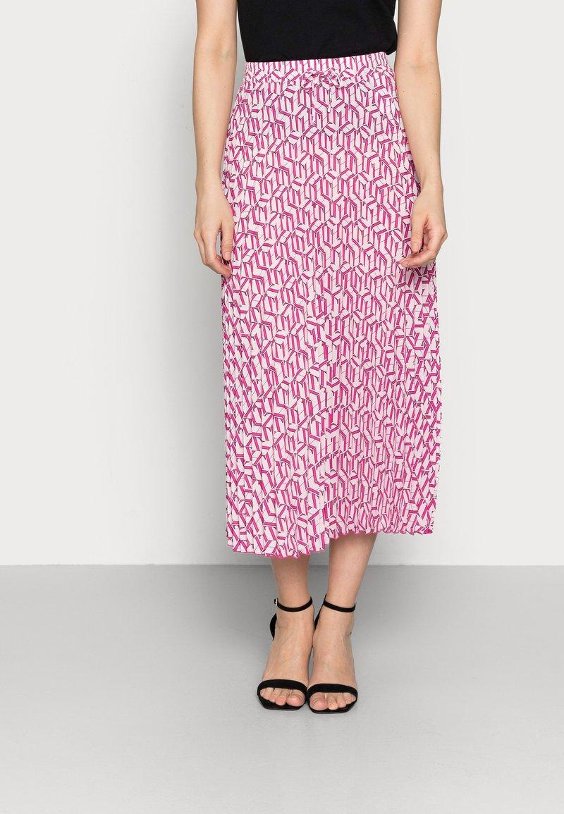 Tommy Hilfiger - CUBE PLEATED MIDI SKIRT - Plisovaná sukně - pink