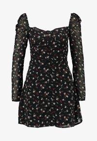Missguided - FLORAL SQUARE NECK MINI DRESS - Cocktail dress / Party dress - black - 4