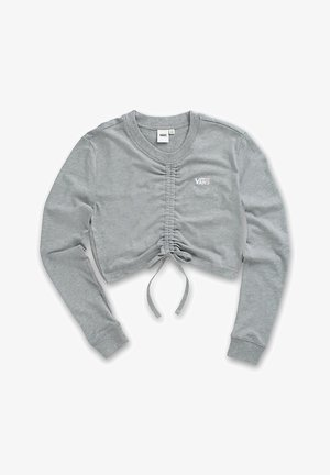 WM DAVIE ROUCHED CROP LS - Sweatshirt - grey heather