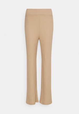 HIGH WAISTED PANTS - Trousers - beige