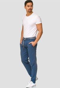 INDICODE JEANS - HAVER - Trousers - dark denim - 1