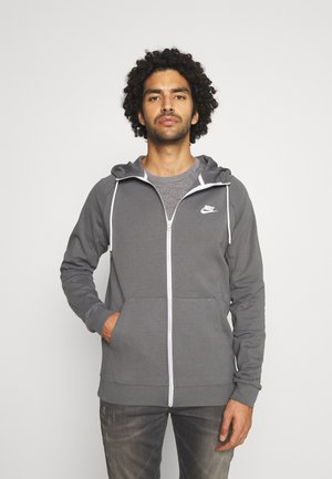 Zip-up hoodie - iron grey/ice silver/white/