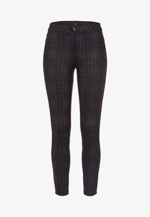 MIT KAROMUSTER  - Trousers - anthracite