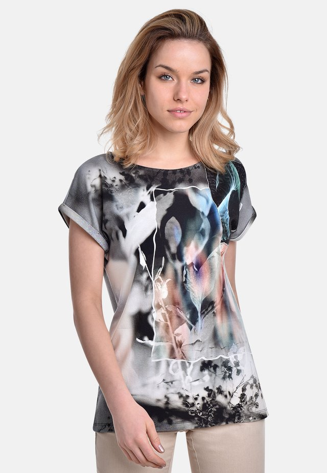 T-shirt print - grey-white