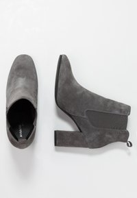 Anna Field Select - LEATHER HIGH HEELED ANKLE BOOTS - Stivaletti con tacco - grey - 3