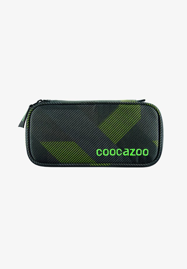 Pencil case - polygon bricks grey