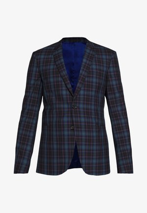 MENS JACKET FULLY LINED CHECKED - Colbert - navy