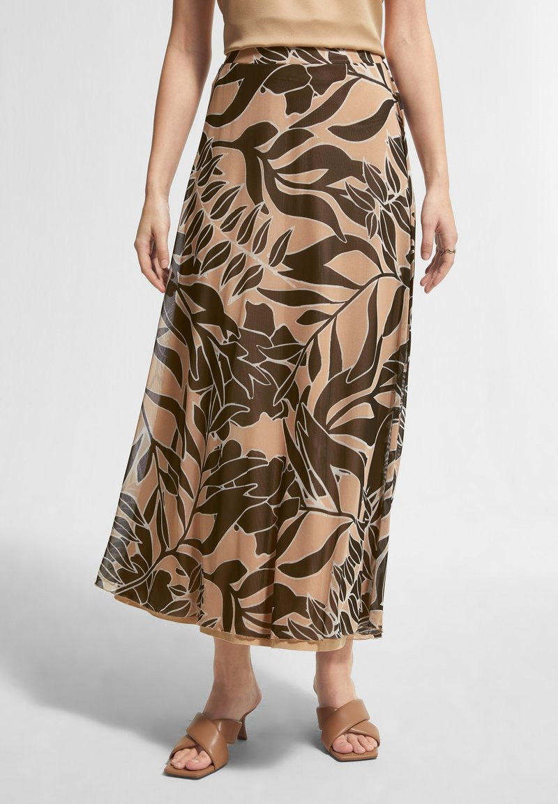 comma - BEDRUCKTER - A-line skirt - sahara leaf