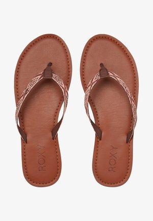 JANEL - T-bar sandals - brown