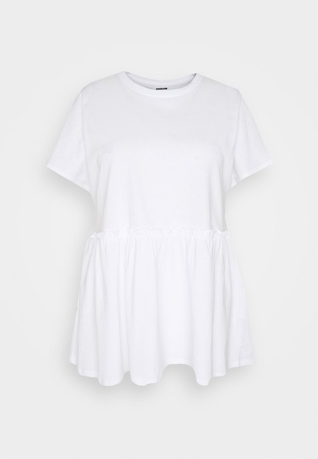 NMEVERLY - T-shirts basic - bright white