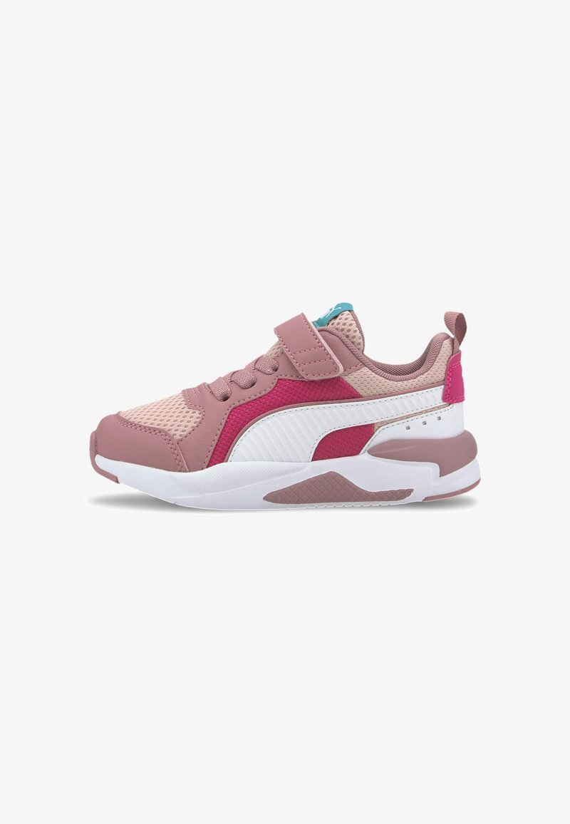 Puma - X-RAY AC KIDS - Baskets basses - peachskin-wht-foxglove-pink