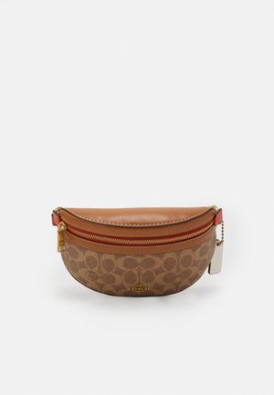 COLORBLOCK COATED SIGNATURE BETHANY BELT BAG - Gürteltasche - tan chalk/multi