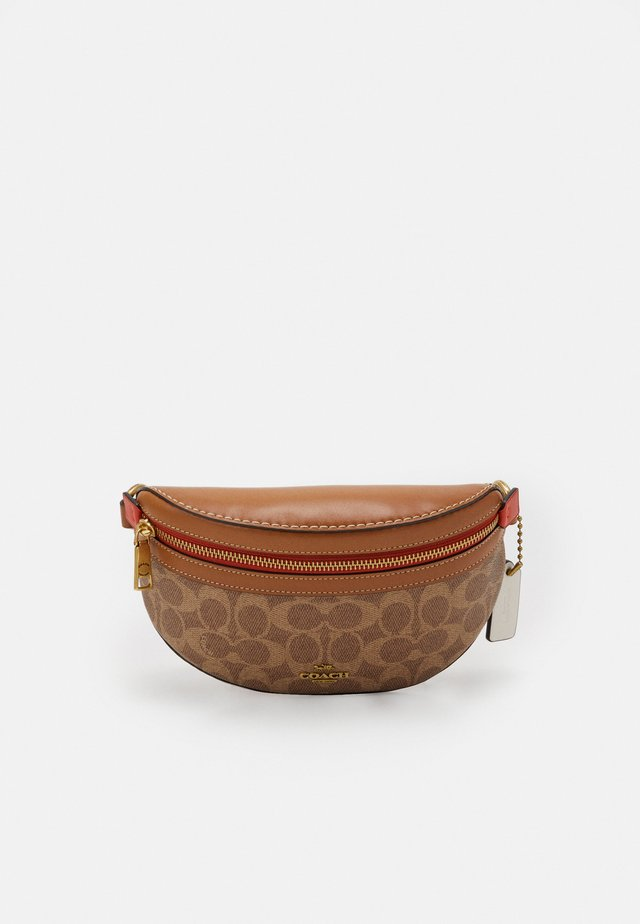 COLORBLOCK COATED SIGNATURE BETHANY BELT BAG - Saszetka nerka - tan chalk/multi