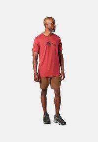 Smartwool - T-shirt print - red - 0