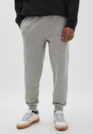 BASIC-JOGGERHOSE AUS PIKEE - Pantaloni sportivi - mottled grey