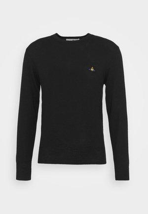 CLASSIC ROUND NECK - Jumper - black