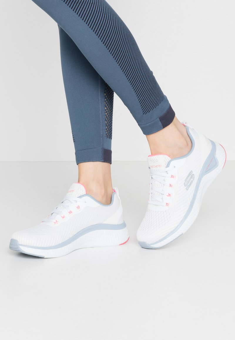 Skechers Sport - SOLAR FUSE - Trainers - white/blue/pink