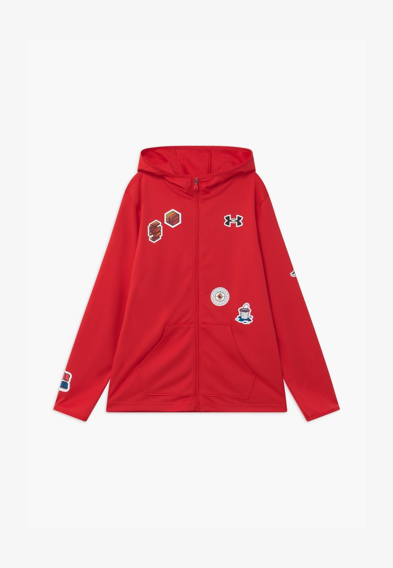 Under Armour - HOOPS WARMUP  - Training jacket - red