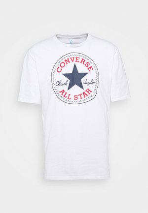 CHUCK TAYLOR ALL STAR PATCH GRAPHIC TEE - T-shirt z nadrukiem - white