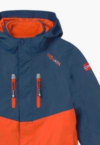 TrollKids - KIDS BRYGGEN JACKET UNISEX 2-IN-1 - Hardshell jacket - mystic blue/orange - 3