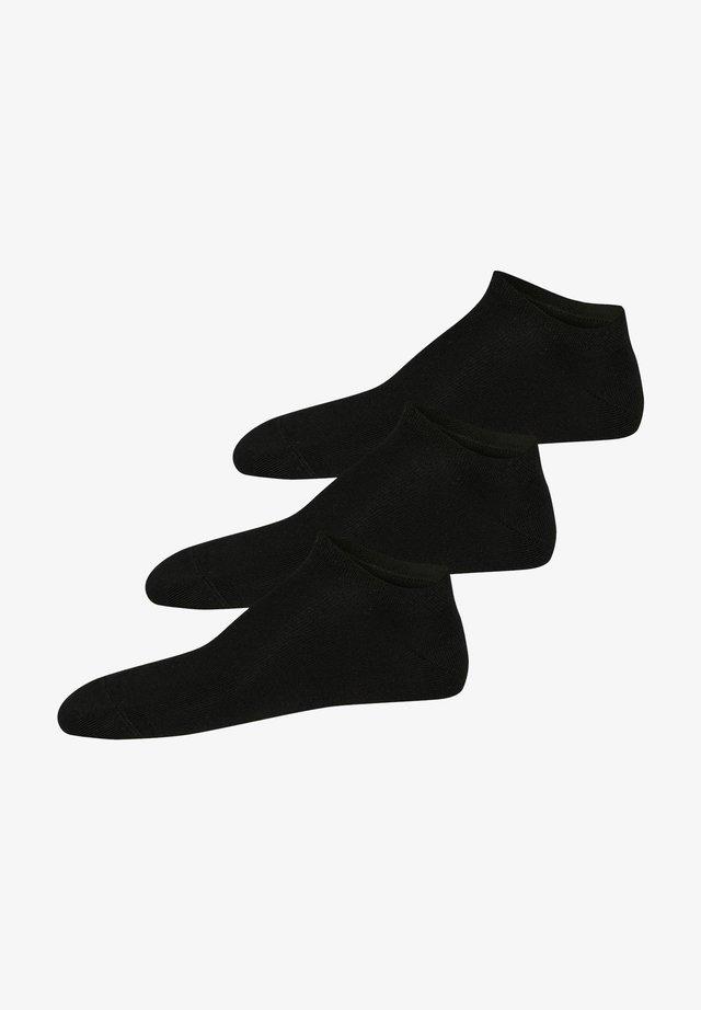 3 PACK - Ankelsockor - schwarz