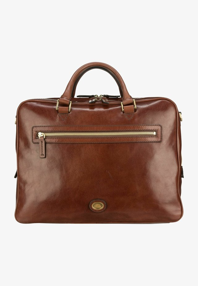 STORY UOMO  - Briefcase - marrone/oro
