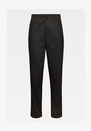 JANEH ULTRA HIGH MOM ANKLE - Straight leg jeans - pitch black
