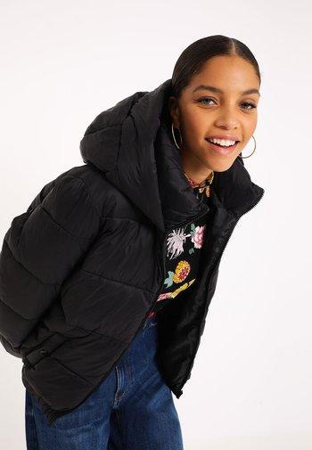 MIT KAPUZE - Winter jacket - schwarz
