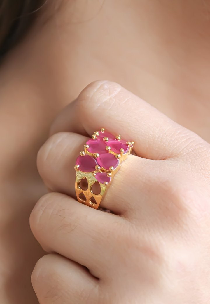 Bombay Sunset - STEPPING STONE - Anello - red